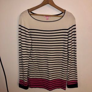 Lilly Pulitzer Striped Sweater Stretch Long Sleeve